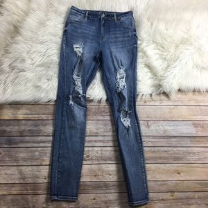 PacSun Jeans High Rise Skinniest Ripped Destroyed